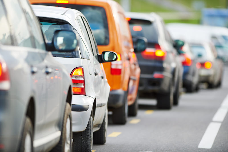 Avoid highways, freeways, and interstates