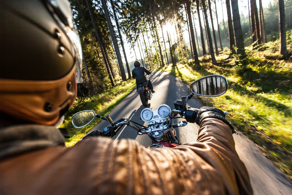 Motorcycle etiquette includes avoid surprising other riders