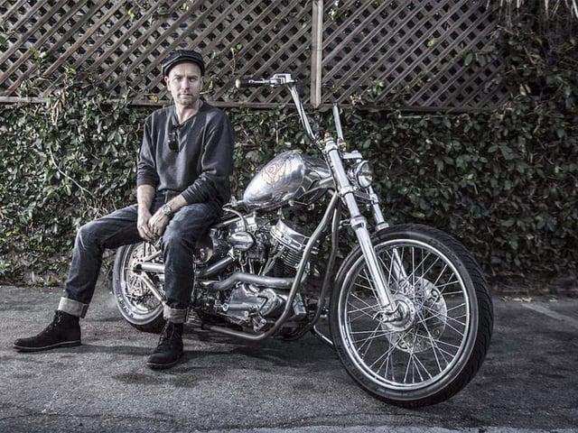 Ewan McGregor on Motorcycle