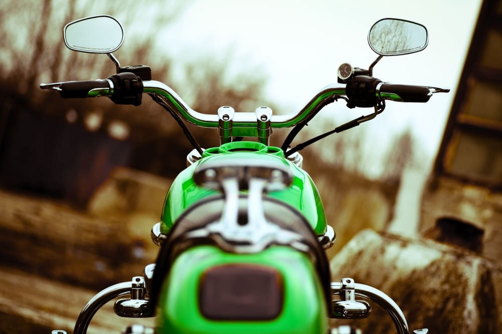 Green motorcycles were once thought to be bad luck