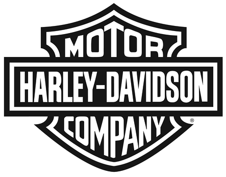 Black and white harley logo