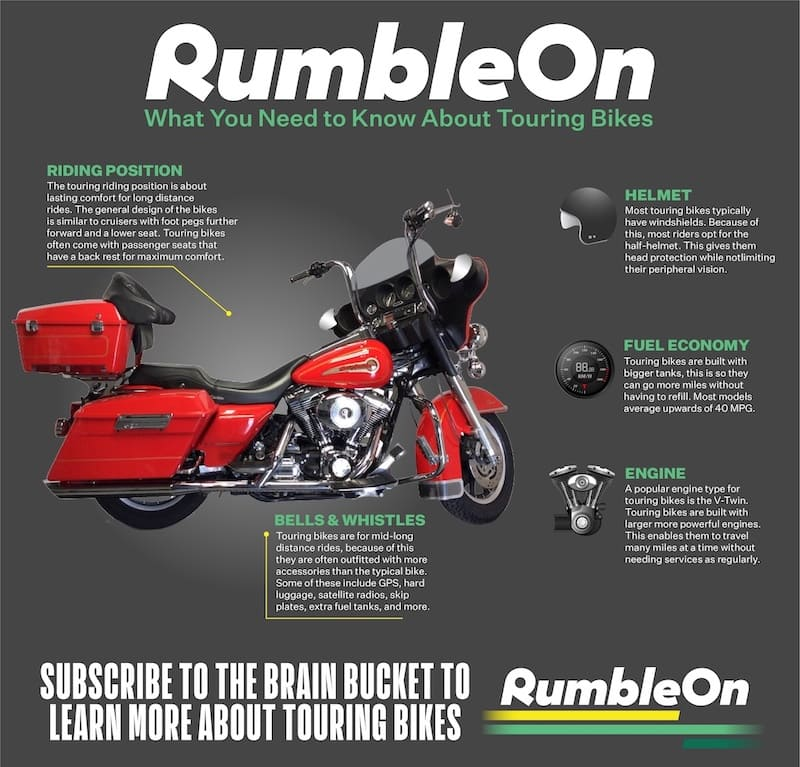 What is a touring motorcycle