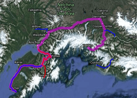 Best motorcycle road in Alaska