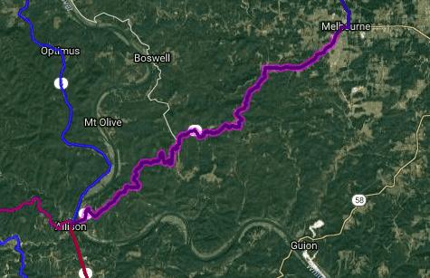 Best biking road in Arkansas - AR9 - Melbourne - Allison