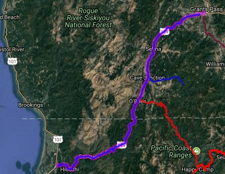 Best biking roads in California - Redwood Hwy - Crescent City - Grants Pass