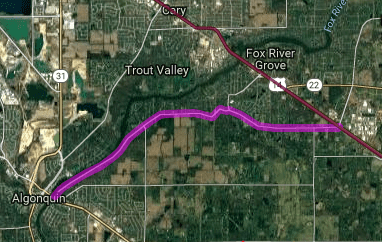 Best motorcycle route in Illinois - Fox River Run