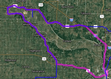 Best motorcycle route in Kansas - Three State Run