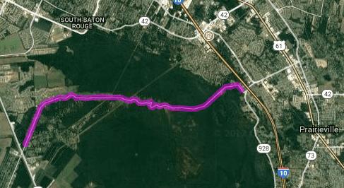 Best motorcycle route in Louisiana - Manchac Road - Prairieville - Iberville