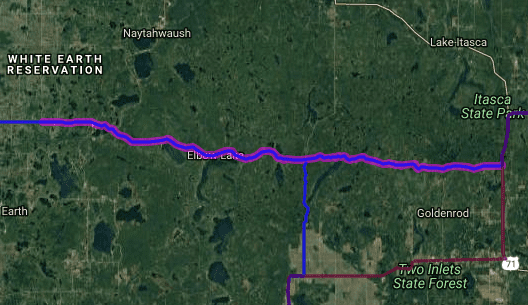 Best motorcycle routes in Minnesota - MN 113 - White Earth - Mantrap Lake