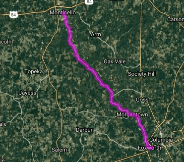 Best motorcycle routes in Mississippi - Foxworth - Monticello