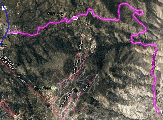 Best motorcycle routes in Nevada - SV 207 - Stateline - Gardenerville