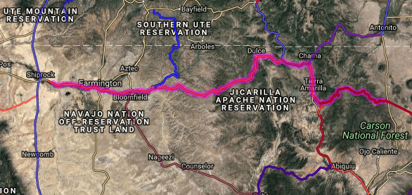Best bike routes in New Mexico - US 64 - Shiprock - El Prado
