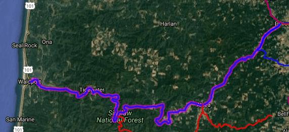 Best motorcycle roads in Oregon - Waldport - Corvalis
