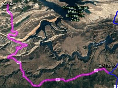 Best motorcycle road in Utah - Red Canyon - Manila