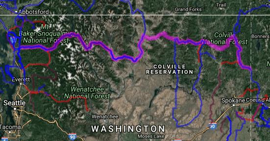 Best motorcycle route in Washington - Burlington - Tonasket - Kettle Falls - Newport