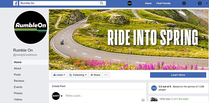 RumbleOn Facebook