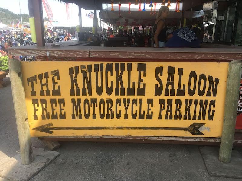 The Knuckle Saloon in Sturgis Douth Dakota