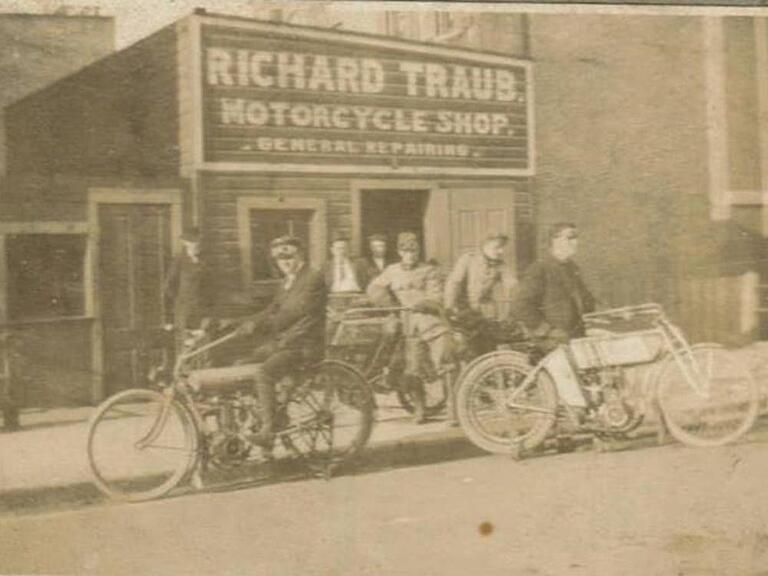 Richard Traub Motorcycle Shop, Date and Location Unknown
