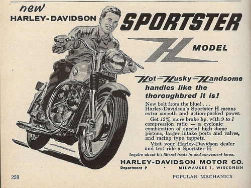 Harley Davidson 1958 Sportster H