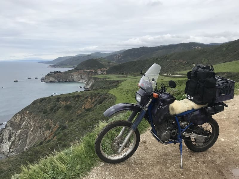 Adventure motorcycle touring