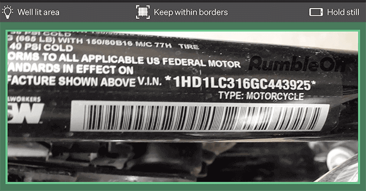 What Information is Contained in a Motorcycle VIN?