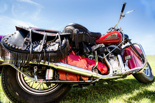 motorcycle with saddlebags