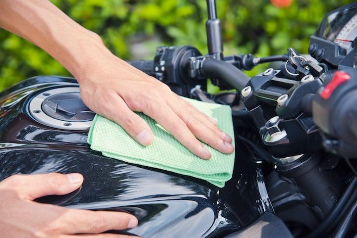 waxing motorcycle