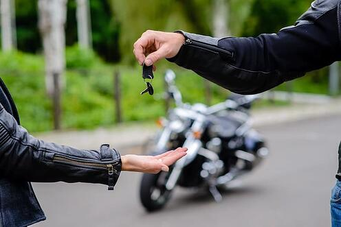 dropping off motorcycle